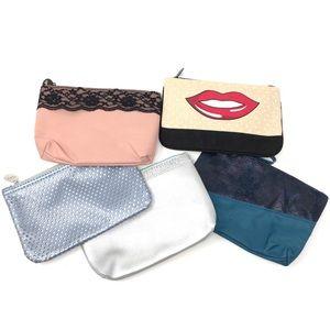 5 Piece Ipsy Glamour Cosmetic Makeup Bag Bundle